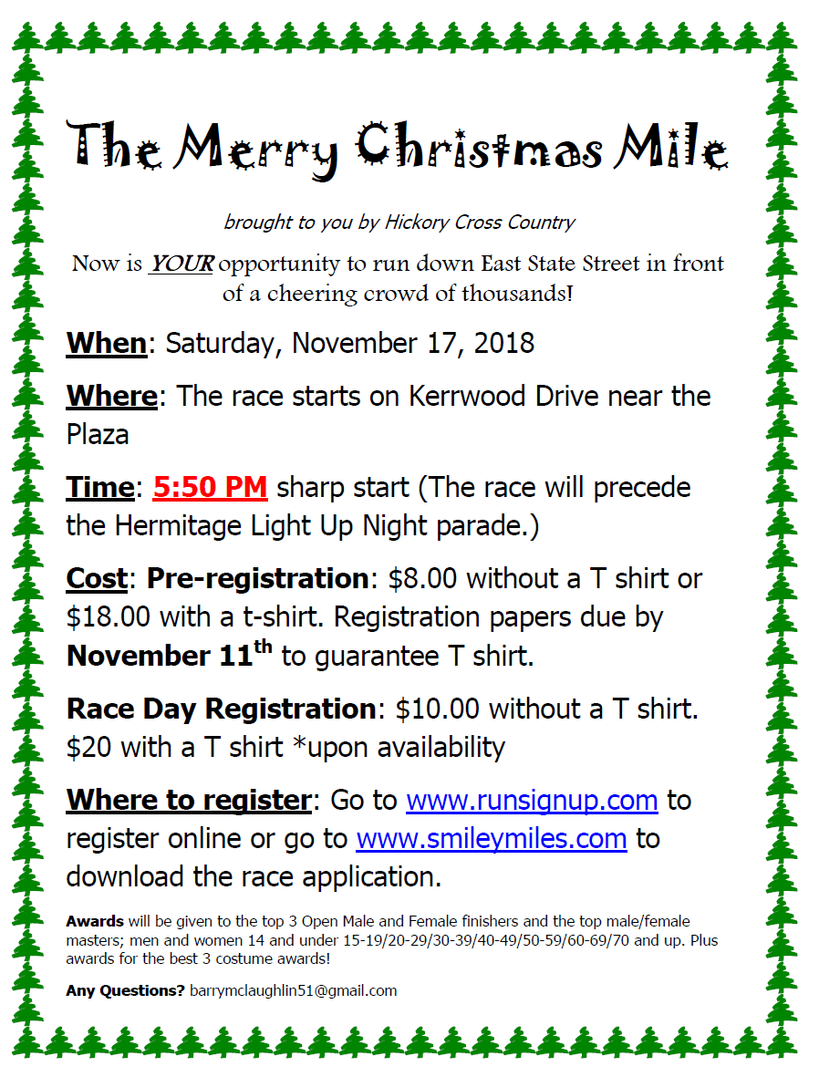 Merry Christmas Mile Flyer