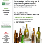 PRC Traveling Glass Recycling Event April 2021