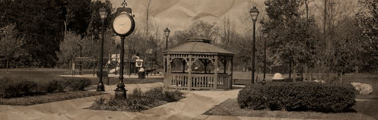Historical photo of park