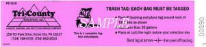 Excess Waste Large Item Tag