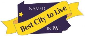 Named best city to live in PA!